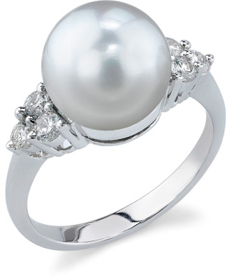 South Sea Pearl & Diamond Breeze Ring