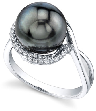Tahitian Pearl & Diamond Summer Ring