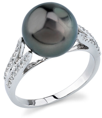 Tahitian Pearl & Diamond Embrace Ring