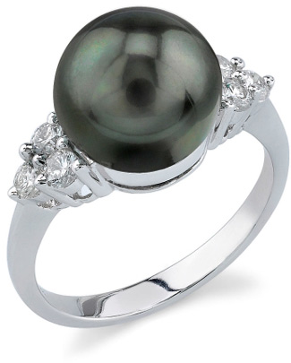 Tahitian Pearl & Diamond Sea Breeze Ring