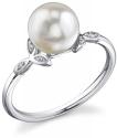 Akoya Pearl & Diamond Blossom Ring