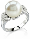 Heart-Shape Australian Pearl & Diamond Ring