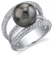 Tahitian Pearl & Diamond Eternity Ring