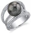 Tahitian Pearl & Diamond Eternity Ring