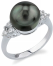 Tahitian Pearl & Diamond Sea Breeze Ring
