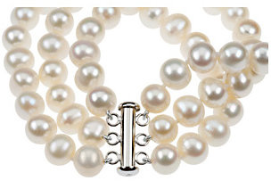 freshwater cultured pearl bracelet clasp