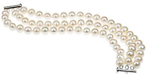 freshwater cultured pearl bracelet laid out