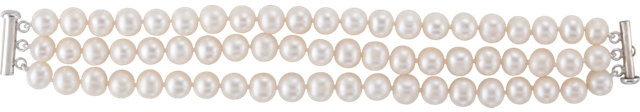 freshwater cultured pearl bracelet straight