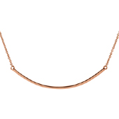 14K Rose Gold Curved Bar Necklace