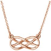 14K Rose Gold Infinity Knot Necklace
