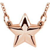 14K Rose Gold Star Necklace