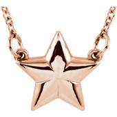 14K Rose Gold Star Necklace