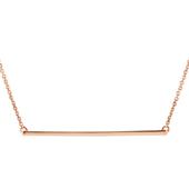 14K Rose Gold Straight Bar Necklace