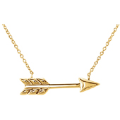 14K Yellow Gold Arrow Necklace