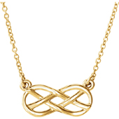 14K Yellow Gold Infinity Knot Necklace