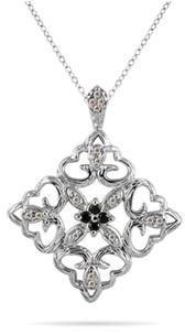 Black And White Diamond Victorian-Era Inspired Pendant