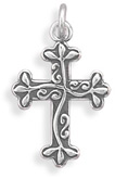 I Am the Vine Cross Pendant, Sterling Silver