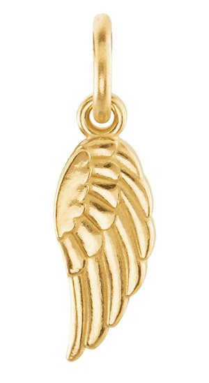 Posh Mommy Angel Wing Pendant, 14K Gold