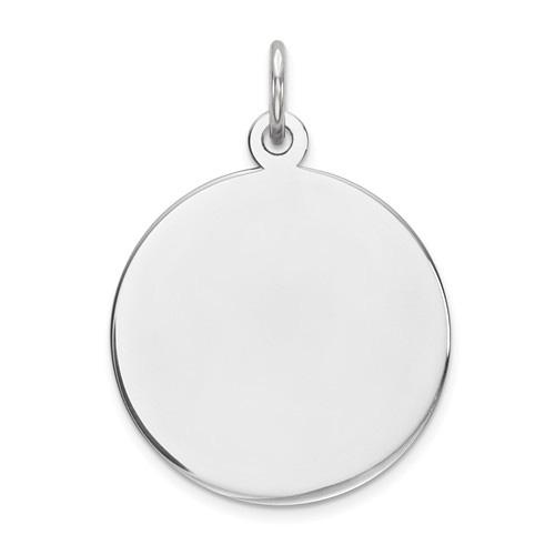 Silver Engravable Disc Charm Pendant