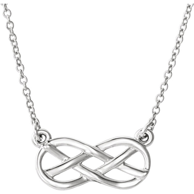 Sterling Silver Infinity Knot Necklace