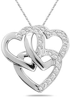 1/4 Carat Triple Heart Diamond Heart Necklace