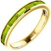 8-Stone Baguette Peridot Ring in 14K Yellow Gold