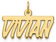 14K Gold Stylized Custom Personalized Name Plate Pendant