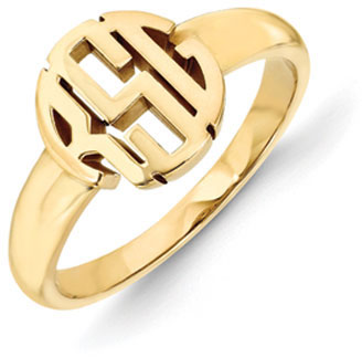 Classic Monogram Ring, 14K Gold