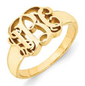 14K Yellow Gold Monogram Ering