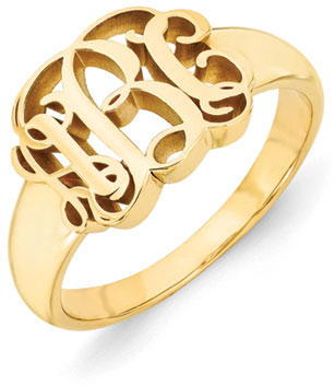 14k Yellow Gold Monogram Ring
