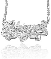 3-Dimensional Name Plate Pendant Necklace in Sterling Silver