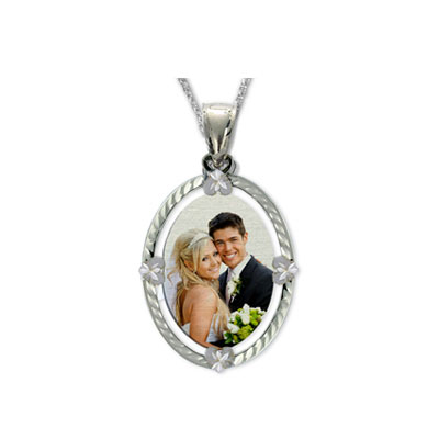 White Gold Color Photo Jewelry Necklace Pendant