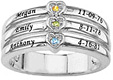 Custom Engraved Mother's Ring with Cubic Zirconia