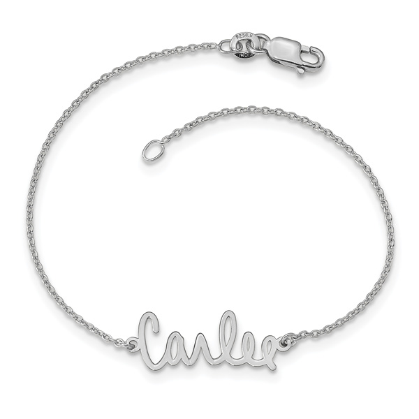 Custom Signature Name Bracelet in Sterling Silver