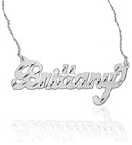 Diamond-Cut Custom Name Jewelry Necklace in Sterling Silver