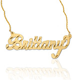Diamond-Cut Yellow Gold Personalized Name Jewelry Necklace