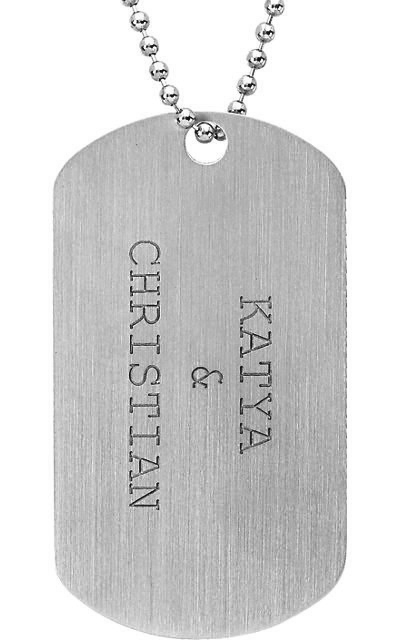 Engraveable dog tag necklace in sterling silver mozeypictures Gallery