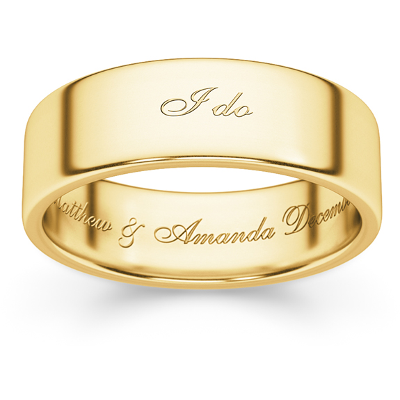 I do Personalized Wedding Band Ring