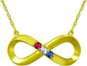 Custom Infinity Birthstone Necklace in Yellow Gold