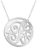 Personalized Monogram Necklace in Sterling Silver