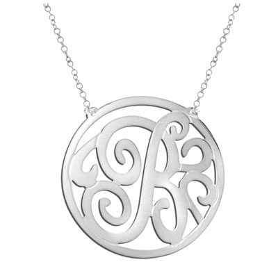 White Gold Personalized Monogram Necklace