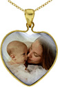 Yellow Gold Mother of Pearl Color Photo Jewelry Charm