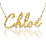 Yellow Gold Script Name Necklace
