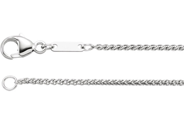 1.2mm Platinum Wheat Chain Necklace