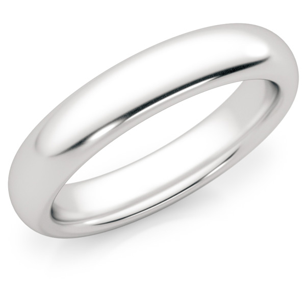 4mm Comfort Fit Platinum Wedding Band Ring