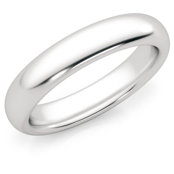 4mm Platinum Plain Wedding Band Ring