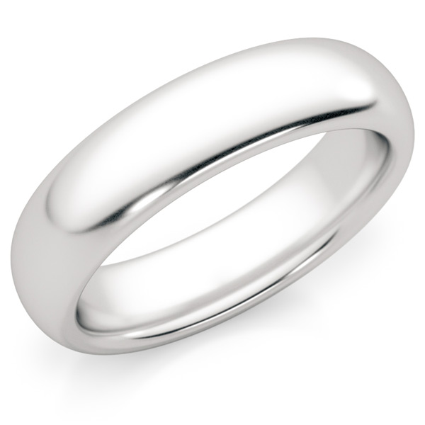 5mm Comfort-Fit Platinum Wedding Band Ring