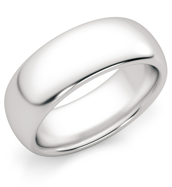 7mm Platinum Wedding Band Ring