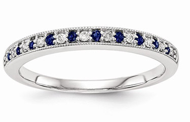 gemstone wedding bands and rings