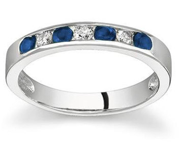 sappire wedding band rings